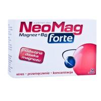 NEOMAG FORTE // Magnez+B6 /Prawidlowe funkcjonowanie ukl.nerwowego i miesni, zmniejszenie uczucia zmeczenia i znuzenia/ 50 tabl.
