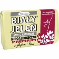 BIALY JELEN Hipoalergiczne mydlo naturalne Z GLOGIEM I LNEM // Bez alergenow i sztucznych barwnikow