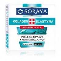 SORAYA KOLAGEN+ELASTYNA // pielegnacyjny Krem nawilzajacy // witaminy A, C, E // na dzien i na noc