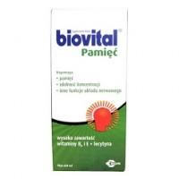 BIOVITAL PAMIEC Wysoka zawartosc witaminy B6 i E + lecytyna /Wspomaga pamiec,zdolnosc koncentracji,inne funkcje ukl.nerwowego