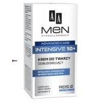 AA MEN 50+ INTENSIVE / Krem do twarzy odbudowujacy / Wygladza zmarszczki, intensywnie odzywia // Kompleks peptydowy,witamina E