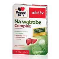 DOPPELHERZ AKTIV Na watrobe Complex / Kompleksowy sklad wspomagajacy:regenereacje watroby,usuwanie toksyn,trawienie / 30 kaps