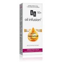 AA Oil infusion 50+ KREM POD OCZY // Totalna regeneracja +elastycznosc / Lekka formula,podwojna infuzja / Bezzapachowy