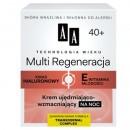 AA TW Multi Regeneracja 40+ / Krem ujedrniajaco wzmacniajacy na noc //Kwas hialuronowy + Witamina E mlodosci/ Skora wrazliwa