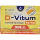 D-VITUM FORTE 2000 j.m. / Witamina D dla doroslych / Do postepowania dietetycznego w niedoborach witaminy D / W oleju lnianym