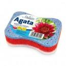Gabka kapielowa Delikato AGATA //Gabka do masazu trojwarstwowa z celuloza