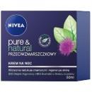 Nivea Pure&Natural Krem przeciwzmarszczkowy na noc / Widocznie redukuje zmarszczki i regeneruje skore
