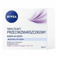 NIVEA Nawilzajacy przeciwzmarszczkowy krem na dzien / Wszystkie typy skory /Redukuje zmarszczki, wygladza skore