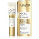 Eveline Gold Lift Expert / Luxurious eye cream with 24k gold / SPF 8