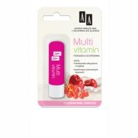 AA Pomadka ochronna Multi vitamin / Usta doskonale odzywione,miekkie, pachnace czerwonymi owocami