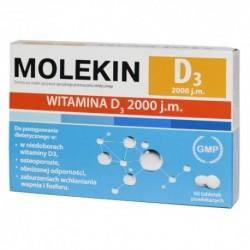 MOLEKIN D3 2000j.m // Witamina D wplywa na:uklad odpornosciowy,zdrowe kosci i zeby, prawidlowy poziom wapnia we krwi