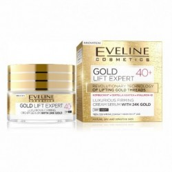 Eveline Gold Lift Expert 40+ / Luxurious firming cream-serum with 24k gold / day&night / mature,dry and sensitive skin