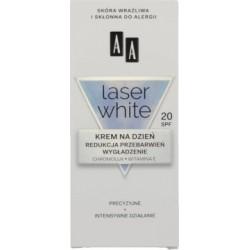 AA Laser white / Krem na dzien / Redukcja przebarwien, wygladzenie / Chromolux, witamina E /  Precyzyjne+intensywne dzialanie