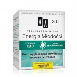 AA TW Energia Mlodosci 30+ krem wygladzajaco nawilzajacy na dzien UVA/UVB // KONNZYM Q10, KWAS HIALURONOWY