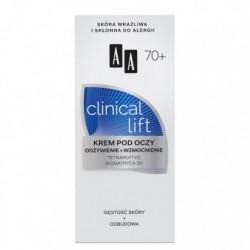 AA Clinical Lift 70 +  / Krem pod oczy Odzywienie +wzmocnienie // Gestosc skory+odbudowa / Skora wrazliwa i sklonna do alergii