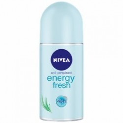 NIVEA Roll -on for women ENERGY FRESH // Anti-perspirant // Orzezwiajaca swiezosc // Delikatna pielegnacja 48h
