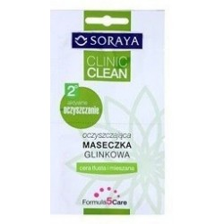 Soraya Clinic Clean // Oczyszczajaca maseczka glinkowa // Cera tlusta i mieszana // Formula 5 care
