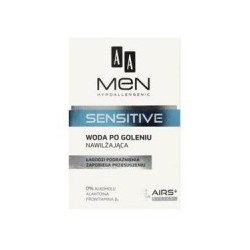 AA Men SENSITIVE Woda po goleniu nawilzajaca // Lagodzi podraznienia, zapobiega wysuszaniu // 0 % alkoholu