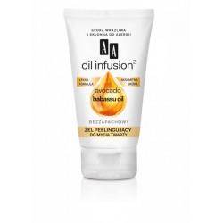 AA Oil infusion ZEL PEELINGUJACY do mycia twarzy // Avocado babassu oil / Lekka formula, aksamitna skora