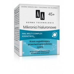 AA Mikronici Hialuronowe 45+ // Hial Multi Complex Koenzym Q10 / Krem wypelniajacy przeciwzmarszczkowy Dzien
