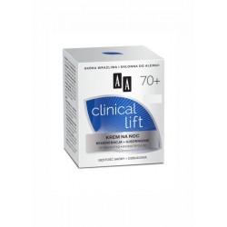 AA Clinical Lift 70+ / KREM NA NOC Regeneracja+ujedrnienie / Tetrapeptyd,Biomatryca 3D /Gestosc skory+odbudowa/ Skora wrazliwa