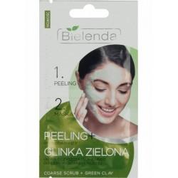 PEELING gruboziarnisty+GLINKA ZIELONA//ultra oczyszczajacy zabieg do cery mieszanej i tlustej