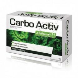 CARBO ACTIV Wegiel leczniczy // Biegunka, wzdecia, zatrucia pokarmowe // 20 kapsulek twardych