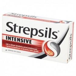 STREPSILS INTENSIV 16tabletek do ssania / Lek o silnym dzialaniu przeciwbolowym i przeciwzapalnym w leczeniu bolu gardla