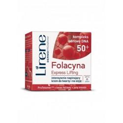 Lirene Folacyna Express Lifting 50+ / Intensywnie Napinajacy Krem do Twarzy i na Szyje SPF10 Dzien