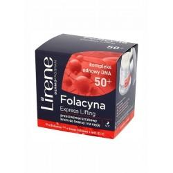 Lirene Folacyna 50+ Express Lifting // Przeciwzmarszczkowy krem do twarzy i na szyje na noc // ProTelomer+kwas foliowy+wit.E i C
