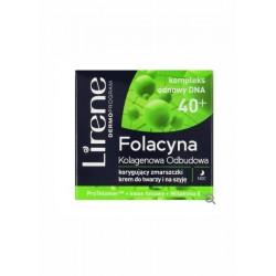 Lirene Folacyna 40+ // Kolagenowa Odbudowa // Korygujacy zmarszczki krem do twarzy i na szyje na noc