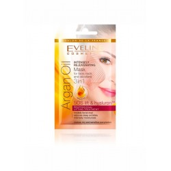 Eveline Intensely Rejuvenating Mask for face,neck and decollete 3in1 ARGAN OIL /SOS lift&hyaluron/Professional lifting treatment