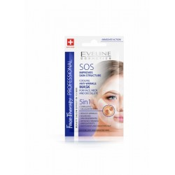 Eveline SOS Improves Skin Structure // Cooling anti-wrinkle mask 5in1 for face, neck and decollete