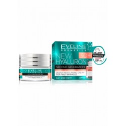 Eveline New Hyaluron 30+ // Second Generation // Deeply moisturising cream for first wrinkles // SPF 8/ Day and night