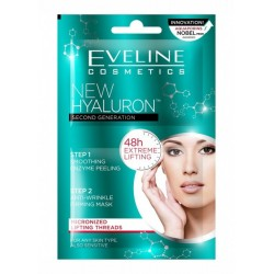 Eveline New Hyaluron // Step 1 Smoothing enzyme peeling, Step 2 anti-wrinkle firming mask // for any skin type
