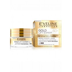 Eveline Gold Lift Expert 60+ / Luxurious rejuvenating cream-serum with 24k Gold /day&night / Mature, dry and sensitive skin
