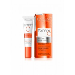 Eveline Expert C Youth Activator // Concentrated eye and eyelid serum-mask // Wrinkle filling, dark circles, puffiness reduction