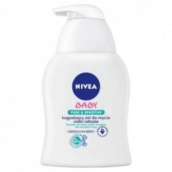 NIVEA BABY Pure&Sensitive Lagodzacy zel do mycia ciala i wlosow/ Nawilza i koi skore sucha i wrazliwa /Nie szczypie w oczy