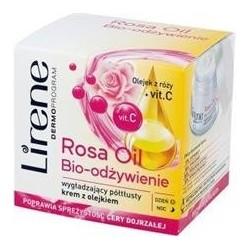 Lirene Rosa Oil Bio-Odzywienie / Wygladzajacy Poltlusty Krem z Olejkiem Dzien/Noc 50ml