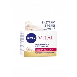 NIVEA VITAL Odbudowujacy krem na dzien / Skora dojrzala / Wzmacnia i dodaje blasku / Ekstrakt z perel i cenny wapn