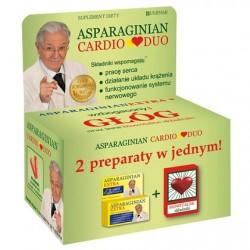 Asparaginian Cardio Duo / Wspomaga: prace serca, dzialanie ukladu krazenia,funkcjonowanie systemu nerwowego / 50 tab