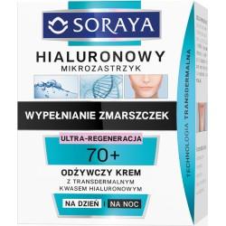 Soraya Hialuronowy Mikrozastrzyk 70+ Wypelnianie zmarszczek / Odzywczy krem z transdermalnym kwasem hialuronowym na dzien i noc