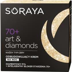 Soraya Art & Diamonds 70+ // Odbudowujacy krem na noc // Kazdy typ cery // Diamentowy pyl+inteligentny bloker starzenia 70+