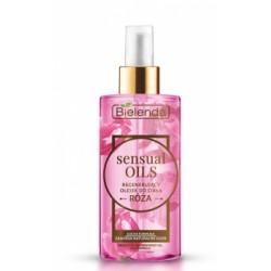 Bielenda Sensual oils // Regenerujacy olejek do ciala ROZA // sucha formula,zawiera naturalne oleje