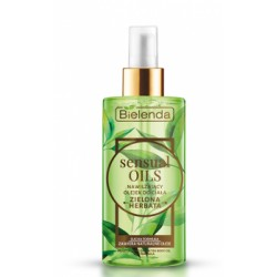 Bielenda Sensual oils // Nawilzajacy olejek do ciala ZIELONA HERBATA // Sucha formula, zawiera naturalne oleje