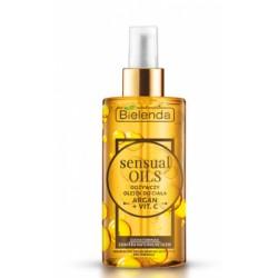 Bielenda Sensual oils // Odzywczy olejek do ciala ARGAN+VIT.C // sucha formula, zawiera naturalne oleje