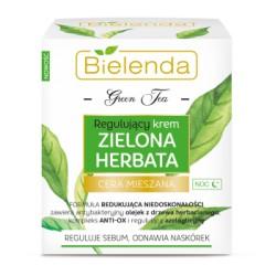Bielenda Zielona Herbata // Regulujacy krem zielona herbata na noc // Reguluje sebum,odnawia naskorek // cera mieszana