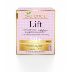 Bielenda Lift 50+ // Liftingujaco-wygladzajacy krem przeciwzmarszczkowy na dzien // SPF 10 // cera dojrzala,rowniez wrazliwa