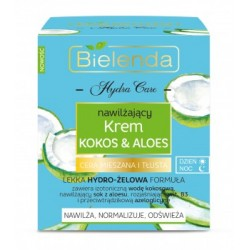 Bielenda Kokos&Aloes / Nawilzajacy krem kokos&aloes dzien i noc /Nawilza,normalizuje,odswieza / Cera mieszana i tlusta