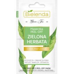 Bielenda Zielona Herbata / Maseczka PEEL-OFF zielona herbata / Oczyszcza,obkurcza pory,matuje,nawilza,odsiweza / cera mieszana